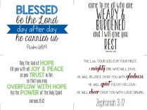 Scripture Cards of Hope-Thankful Project